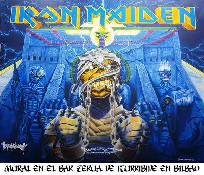 juan  azurmendi Mural Iron Maiden