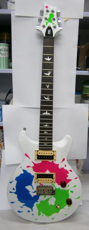 aerografia guitarra